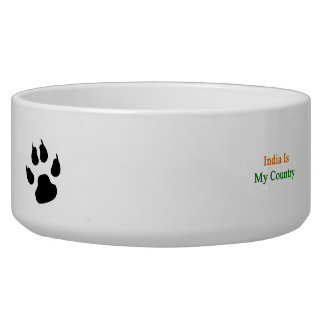 India Is My Country Pet Food Bowls