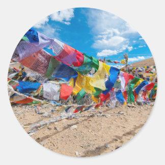 India, Jammu & Kashmir, Ladakh, Namshangla Pass Classic Round Sticker