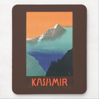 India (Kashmir) Travel Poster mousepad
