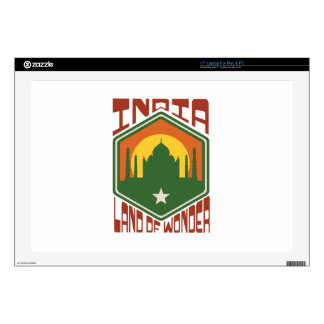 India Land Of Wonder Decal For Laptop