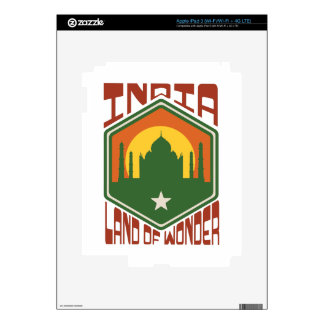 India Land Of Wonder iPad 3 Decals