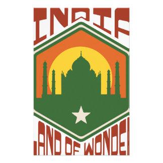 India Land Of Wonder Stationery