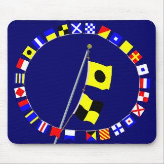 """India Lima  """"IL"""" Nautical signal flag hoist Mouse Pad"""