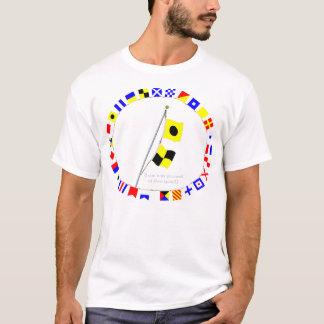 "India Lima  ""IL"" Nautical signal flag hoist T-Shirt"