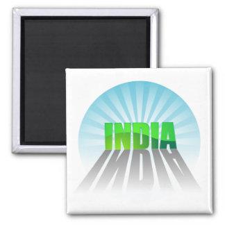India 2 Inch Square Magnet