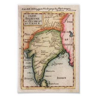 India Mallet, Allain Manesson 1719 Reproduction Print