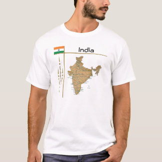 India Map + Flag + Title T-Shirt