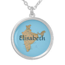 India Map   Name Necklace