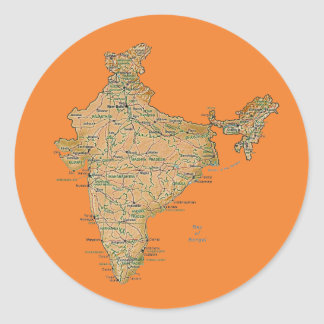 India Map Sticker