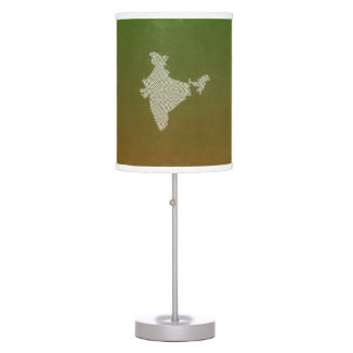India Map with abstract geometric triangles Desk Lamp