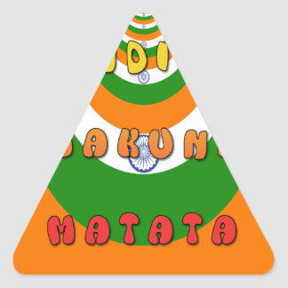 INDIA MATATA HAKUNA TRIANGLE STICKER