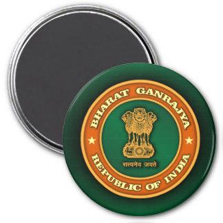 India Medallion 3 Inch Round Magnet