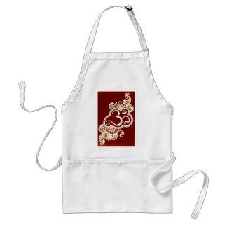India mehndi red henna adult apron