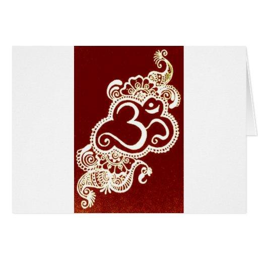 Red Henna Mehndi : India mehndi red henna cards from zazzle