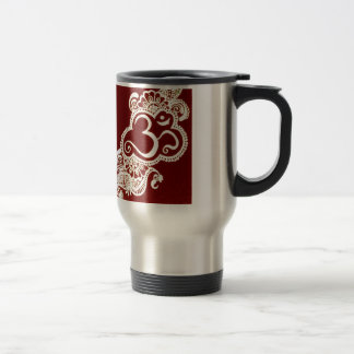 India mehndi red henna travel mug
