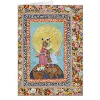 India Miniature Painting from 1618 Card