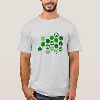 India : Monuments : Green Circles T-Shirt
