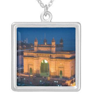 INDIA, Mumbai (Bombay): Gateway of India / Square Pendant Necklace