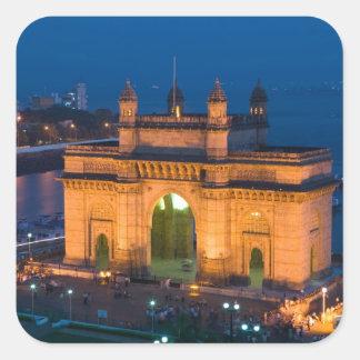 INDIA, Mumbai (Bombay): Gateway of India / Square Sticker