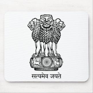 India National Emblem Mouse Pad