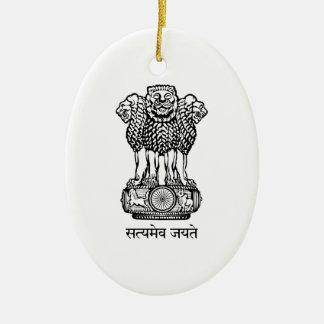 India National Emblem Christmas Tree Ornaments