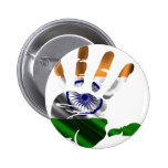 INDIA NICE HAND FLAG PRODUCTS PINBACK BUTTON