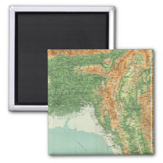 India northeastern section 2 inch square magnet