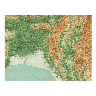 India northeastern section postcard