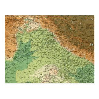 India northwestern section postcard