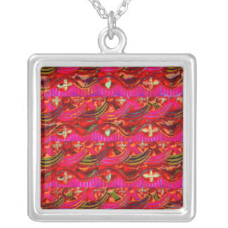 India Old Temple Art from Haridwar Silver Plated Necklace
