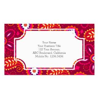 India Paisley Print Business Card Templates