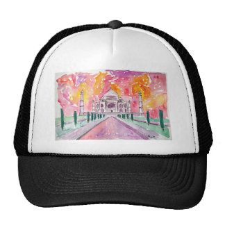 India palace at sunset trucker hat