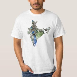 India Peacock Map Shirt