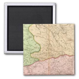 India peninsula North 2 Inch Square Magnet