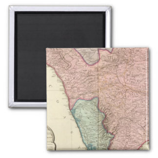 India peninsula South 2 Inch Square Magnet