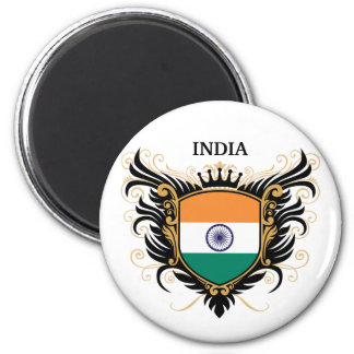 India [personalize] 2 inch round magnet