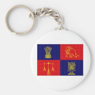 India President Flag Basic Round Button Keychain