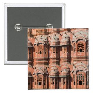 INDIA, Rajasthan, Jaipur: Hawa Mahal (Palace of 2 Inch Square Button