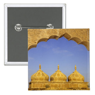 India, Rajasthan, Jaisalmer. Sandstone domes 2 Inch Square Button
