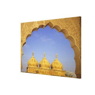India, Rajasthan, Jaisalmer. Sandstone domes Canvas Print