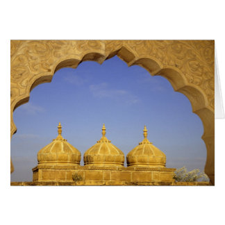 India, Rajasthan, Jaisalmer. Sandstone domes Greeting Card