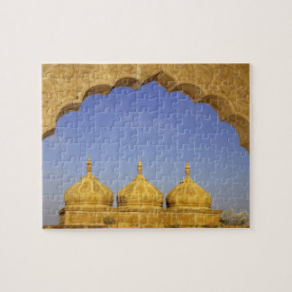 India, Rajasthan, Jaisalmer. Sandstone domes Jigsaw Puzzle