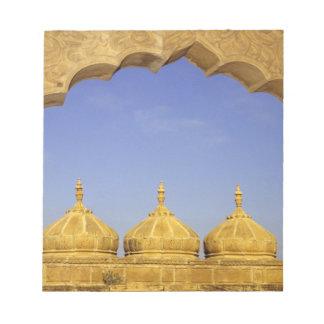 India, Rajasthan, Jaisalmer. Sandstone domes Note Pads