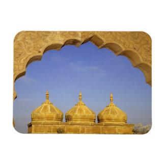 India, Rajasthan, Jaisalmer. Sandstone domes Rectangular Photo Magnet