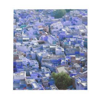 INDIA, Rajasthan, Jodhpur: Blue City of Jodhpur Memo Note Pad