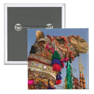 INDIA, Rajasthan, Pushkar: PUSHKAR CAMEL FAIR, 2 Inch Square Button