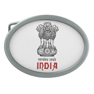 INDIA - seal/emblem/blazon/coat of arms Oval Belt Buckle