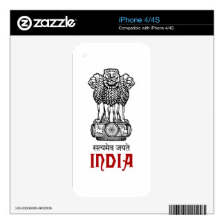 INDIA - seal/emblem/blazon/coat of arms Decals For iPhone 4