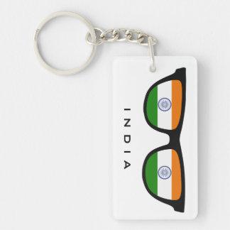 India Shades custom text & color key chain
