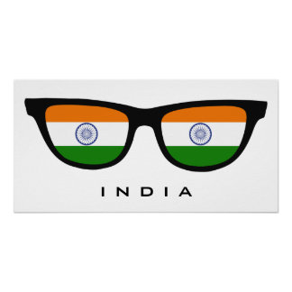 India Shades custom text & color poster